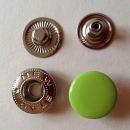 Кнопка металлическая 15 мм эмаль салатовая яркая №232 (720 штук)
