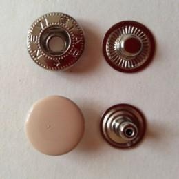 Кнопка металлическая 15 мм эмаль бежевая №291 (720 штук)