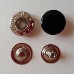 Кнопка металлическая 15 мм эмаль черная №322 (720 штук)