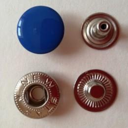 Кнопка металлическая 15 мм эмаль электрик №340 (720 штук)
