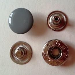 Кнопка металлическая 15 мм эмаль серый №523 (720 штук)
