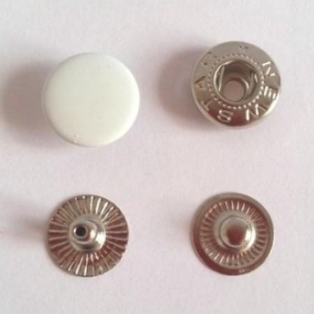 Кнопка металлическая 12,5 мм эмаль белая №101 (720 штук)