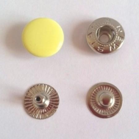 Кнопка металлическая 12,5 мм эмаль желтая №108 (720 штук)
