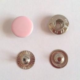 Кнопка металлическая 12,5 мм эмаль розовая №133 (720 штук)