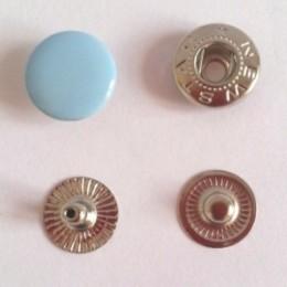 Кнопка металлическая 12,5 мм эмаль голубой №185 (720 штук)