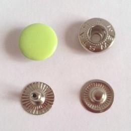 Кнопка металлическая 12,5 мм эмаль салатовый яркий №232 (720 штук)