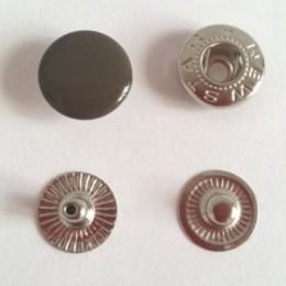 Кнопка металлическая 12,5 мм эмаль коричневый №301 (720 штук)