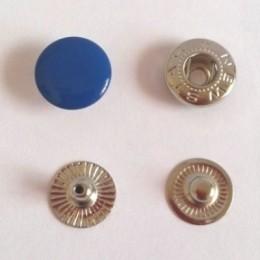 Кнопка металлическая 12,5 мм эмаль электрик №340 (720 штук)