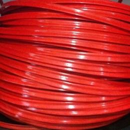 Кант пластиковый для сумок (кедер) 6мм красный (100 метров)