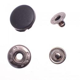 Кнопка пластиковая 17 мм турецкая черная (720 штук)