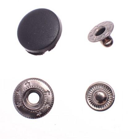 Кнопка пластиковая 20 мм турция черная (720 штук)