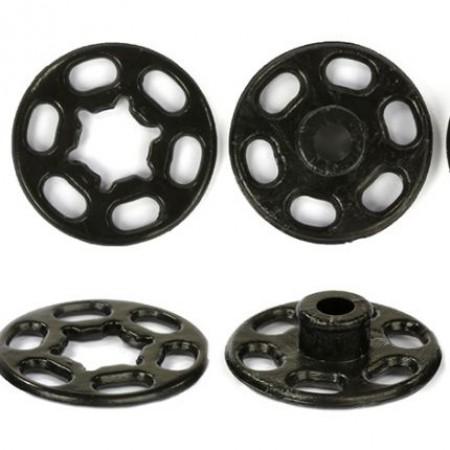 Кнопка пластиковая пришивная 25 мм черная (1000 штук)