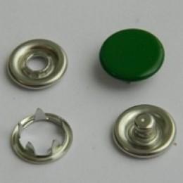 Кнопка трикотажная беби закрытая 9,5 мм турция зеленый 243 (1440 штук)