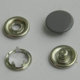 Кнопка трикотажная беби закрытая 9,5 мм турция серый 523 (1440 штук)