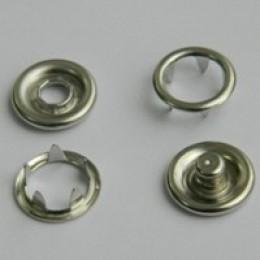 Кнопка трикотажная беби кольцо 9,5 мм турция никель (1440 штук)