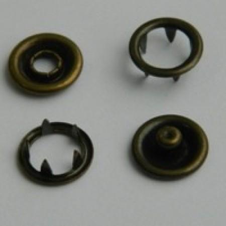 Кнопка трикотажная беби кольцо 9,5 мм турция антик (1440 штук)