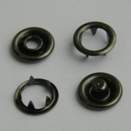 Кнопка трикотажная беби кольцо 9,5 мм турция темный никель (1440 штук)