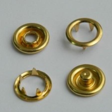 Кнопка трикотажная беби кольцо 9,5 мм турция золото (1440 штук)