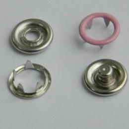 Кнопка трикотажная беби кольцо 9,5 мм турция розовый 134 (1440 штук)