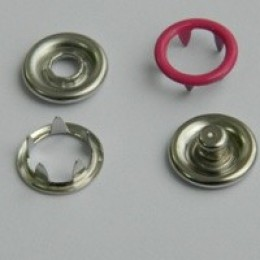 Кнопка трикотажная беби кольцо 9,5 мм турция малиновый 146 (1440 штук)