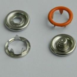 Кнопка трикотажная беби кольцо 9,5 мм турция оранжевый 158 (1440 штук)