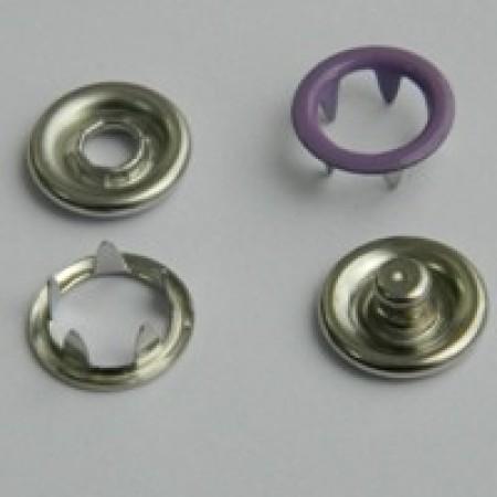 Кнопка трикотажная беби кольцо 9,5 мм турция сиреневый 166 (1440 штук)
