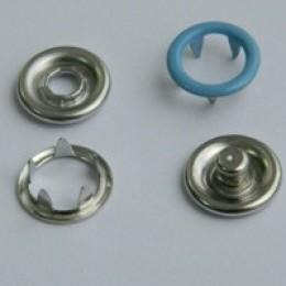Кнопка трикотажная беби кольцо 9,5 мм турция голубой 168 (1440 штук)