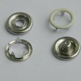 Кнопка трикотажная беби кольцо 9,5 мм турция молоко 306 (1440 штук)