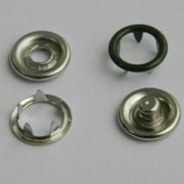 Кнопка трикотажная беби кольцо 9,5 мм турция хаки 327 (1440 штук)