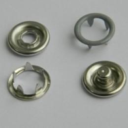 Кнопка трикотажная беби кольцо 9,5 мм турция серый 523 (1440 штук)