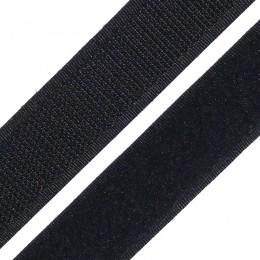 Липучка 25мм черная (25 метров)