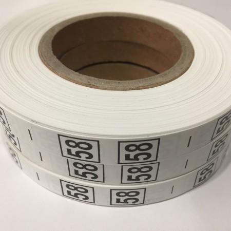 Размерная лента (накатка) 58 (1000 штук)