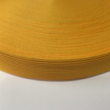 Тесьма окантовочная 18мм желтый (50 метров)
