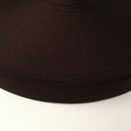Тесьма окантовочная 23мм коричневый темный (100 метров)
