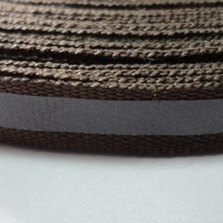 Тесьма светотражающая 1см коричневый (50 метров)