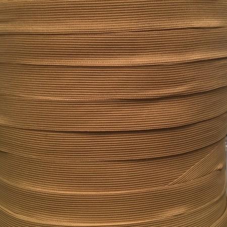 Тесьма окантовочная 23мм коричневый светлый (100 метров)