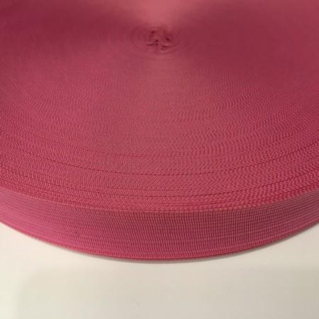 Тесьма окантовочная 23мм розовый темный (100 метров)