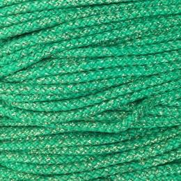 Шнур круглый 4мм люрекс зеленый (200 метров)
