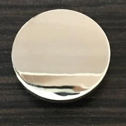 Кнопка металлическая плоская нержавейка 20мм никель (1000 штук)