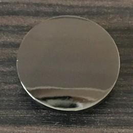 Кнопка металлическая плоская нержавейка 20мм темный никель (1000 штук)