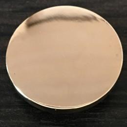 Кнопка металлическая плоская нержавейка 20мм золото (1000 штук)
