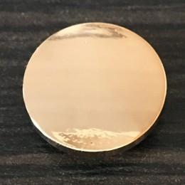 Кнопка металлическая плоская нержавейка 17мм золото (1000 штук)