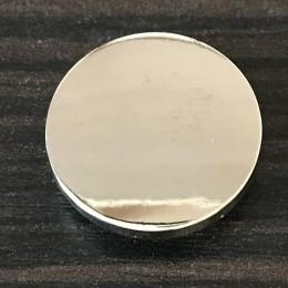 Кнопка металлическая плоская нержавейка 17мм никель (1000 штук)