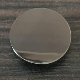 Кнопка металлическая плоская нержавейка 17мм темный никель (1000 штук)