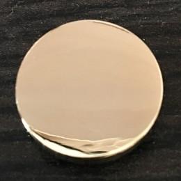 Кнопка металлическая плоская нержавейка 15мм золото (1000 штук)