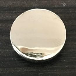 Кнопка металлическая плоская нержавейка 15мм никель (1000 штук)