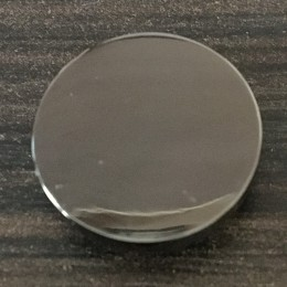 Кнопка металлическая плоская нержавейка 15мм темный никель (1000 штук)