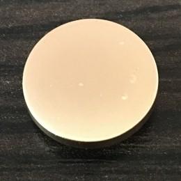 Кнопка металлическая плоская нержавейка 17мм золото матовая (1000 штук)
