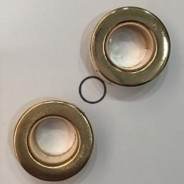 Люверс 9мм №22 нержавейка золото (1000 штук)