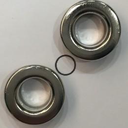 Люверс 9мм №22 нержавейка никель (1000 штук)